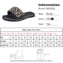 Load image into Gallery viewer, Women Casual Summer Flat Beach Slippers Female Crystal Rivets Slides Slipper Shoes For Girls Fashion Woman Leisure Footwear