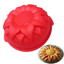 Load image into Gallery viewer, DIY Silicone Cake Baking Mold Big Sunflower DIY Silicone Cake Mold christmas DIY Mold Wedding Decoration