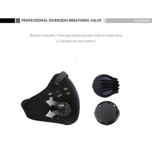 Dust Mask PM2.5 Neoprene Smog Fog Motorbike Riding Face Mouth Custom Air Filter Wholesale Anti Odor Smoke Dust Maske Health