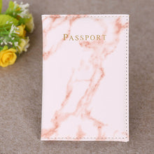 Load image into Gallery viewer, Fashion Women Men Passport Cover Pu Leather Marble Style  Travel ID Credit Card Passport Holder Packet Wallet Purse Bags Pouch