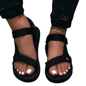 Womens Summer Outdoor Beach Sandals Soft-slip Sandals Open-toe Slippers