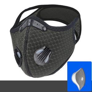 Cycling Face Mask with Filter Activated Carbon PM 2.5 Running Training MTB Road Bike Cycling Mask Face Cover