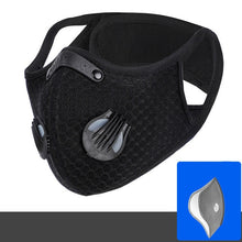Load image into Gallery viewer, Cycling Face Mask with Filter Activated Carbon PM 2.5 Running Training MTB Road Bike Cycling Mask Face Cover