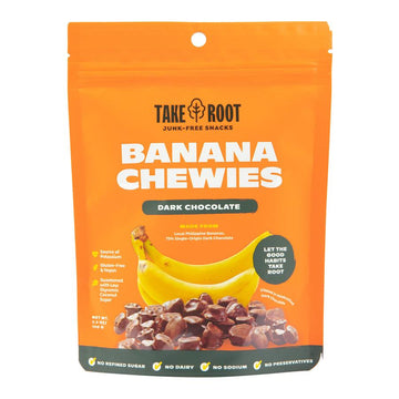 Take Root – Banana Chewies With Dark Chocolate