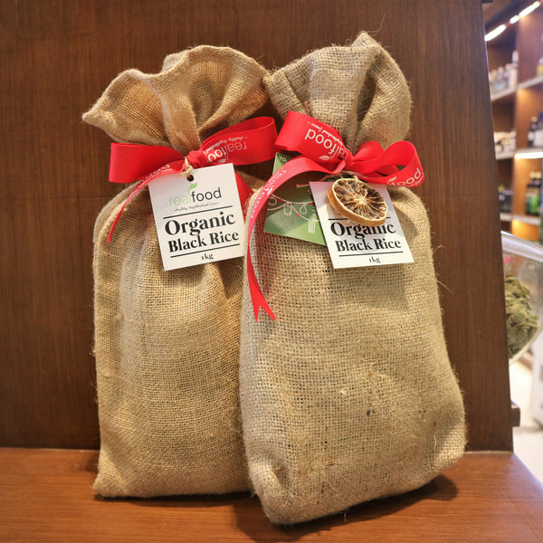 Organic Rice In Jute Sack