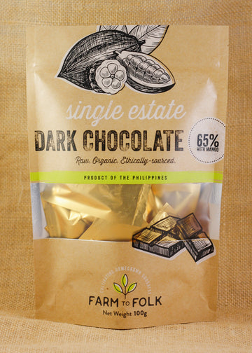 Farm To Folk – 65% Dark Chocolate W/ Mango