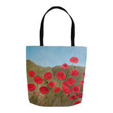 Load image into Gallery viewer, Poppies Tote Bag