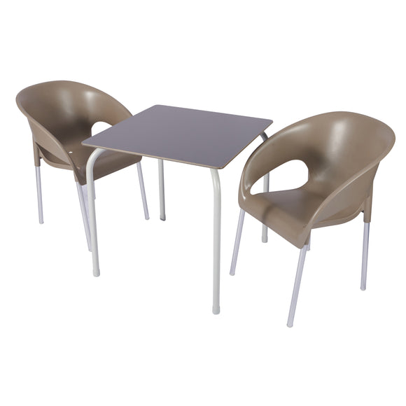 Stacking Avora Table & Azores Stacking Chairs