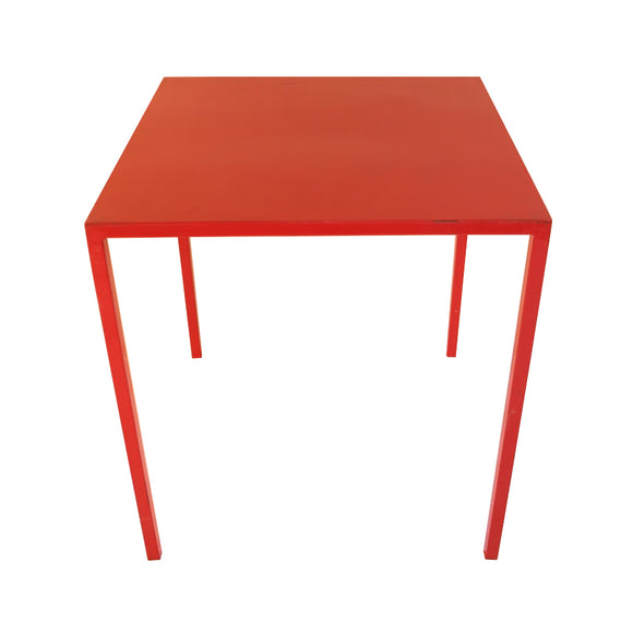 Pre-Loved Red Metal Table