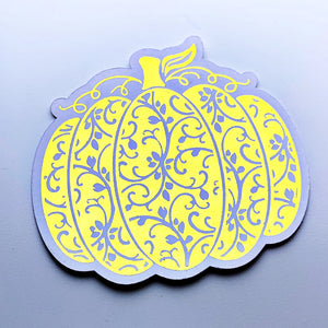 Pumpkin foiled die cut