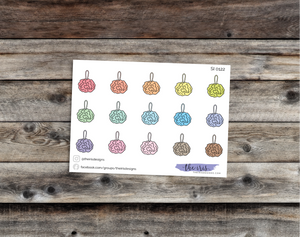 $2 TUESDAY bath pouf pastel colors doodle icons stickers