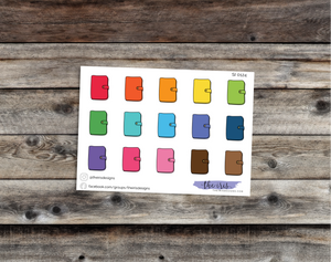 $2 TUESDAY rings planner bright colors doodle icons stickers