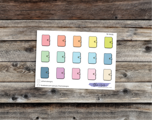 $2 TUESDAY rings planner pastel colors doodle icons stickers