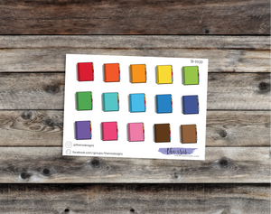 $2 TUESDAY Erin Condren planner bright colors doodle icons stickers