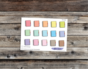 $2 TUESDAY Erin Condren planner pastel colors doodle icons stickers