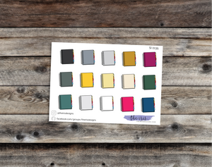 $2 TUESDAY Erin Condren planner dark colors doodle icons stickers
