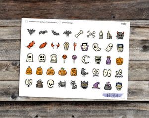 Halloween icons stickers