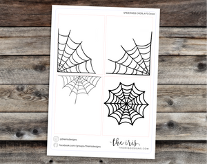 Halloween full boxes overlay foiled spiderwebs - 11 foil options!