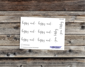$2 TUESDAY happy mail script font stickers