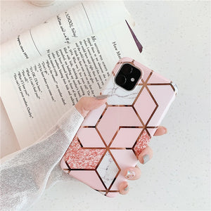 FLYKYLIN Ring Holder Marble Case For Samsung A50 A51 A40 A50 A70 Note 8 9 10 Plus S8 S9 S10 S20 S20 Ultra Soft IMD Phone Cover - edenbeautyboutique