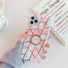 Cargar imagen en el visor de la galería, FLYKYLIN Ring Holder Marble Case For Samsung A50 A51 A40 A50 A70 Note 8 9 10 Plus S8 S9 S10 S20 S20 Ultra Soft IMD Phone Cover - edenbeautyboutique