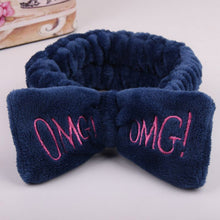 Cargar imagen en el visor de la galería, 2020 New OMG Letter Coral Fleece Wash Face Bow Hairbands For Women Girls Headbands Headwear Hair Bands Turban Hair Accessories - edenbeautyboutique