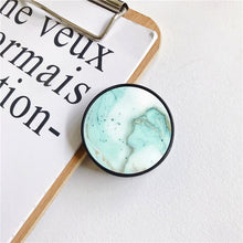Cargar imagen en el visor de la galería, Glossy Popular Marble Expanding Phone Stand Grip Finger Rring Support Anti-Fall Round Foldable Mobile Phone Holder for iPhone 11 - edenbeautyboutique