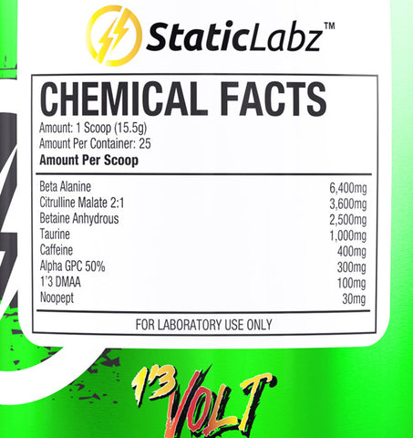 1,3 Volt Ingredient List
