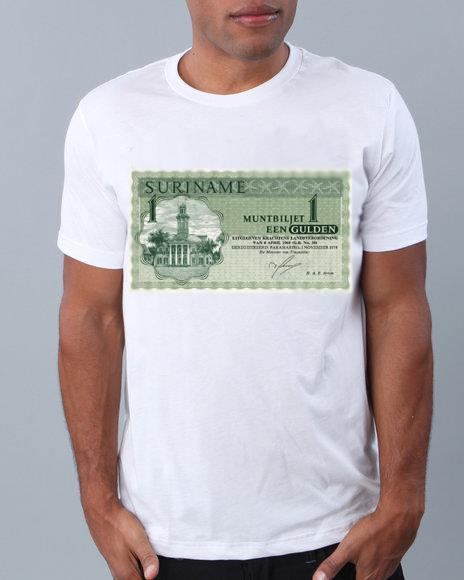 T-shirt briefje van 1 gulden Suriname