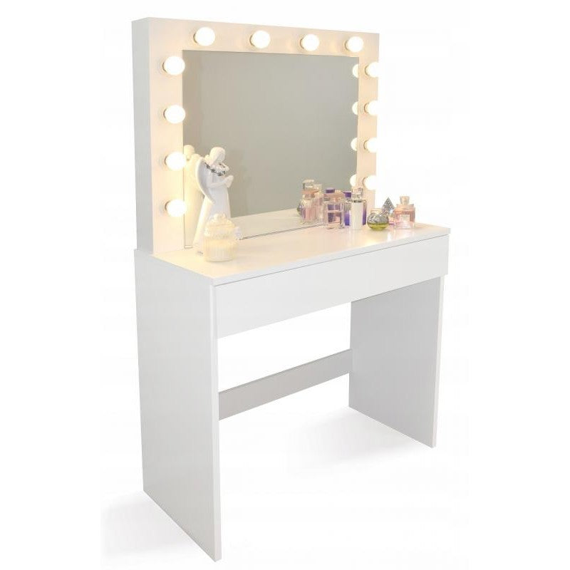 Kaptafel - make-up tafel 12 LED-lampen