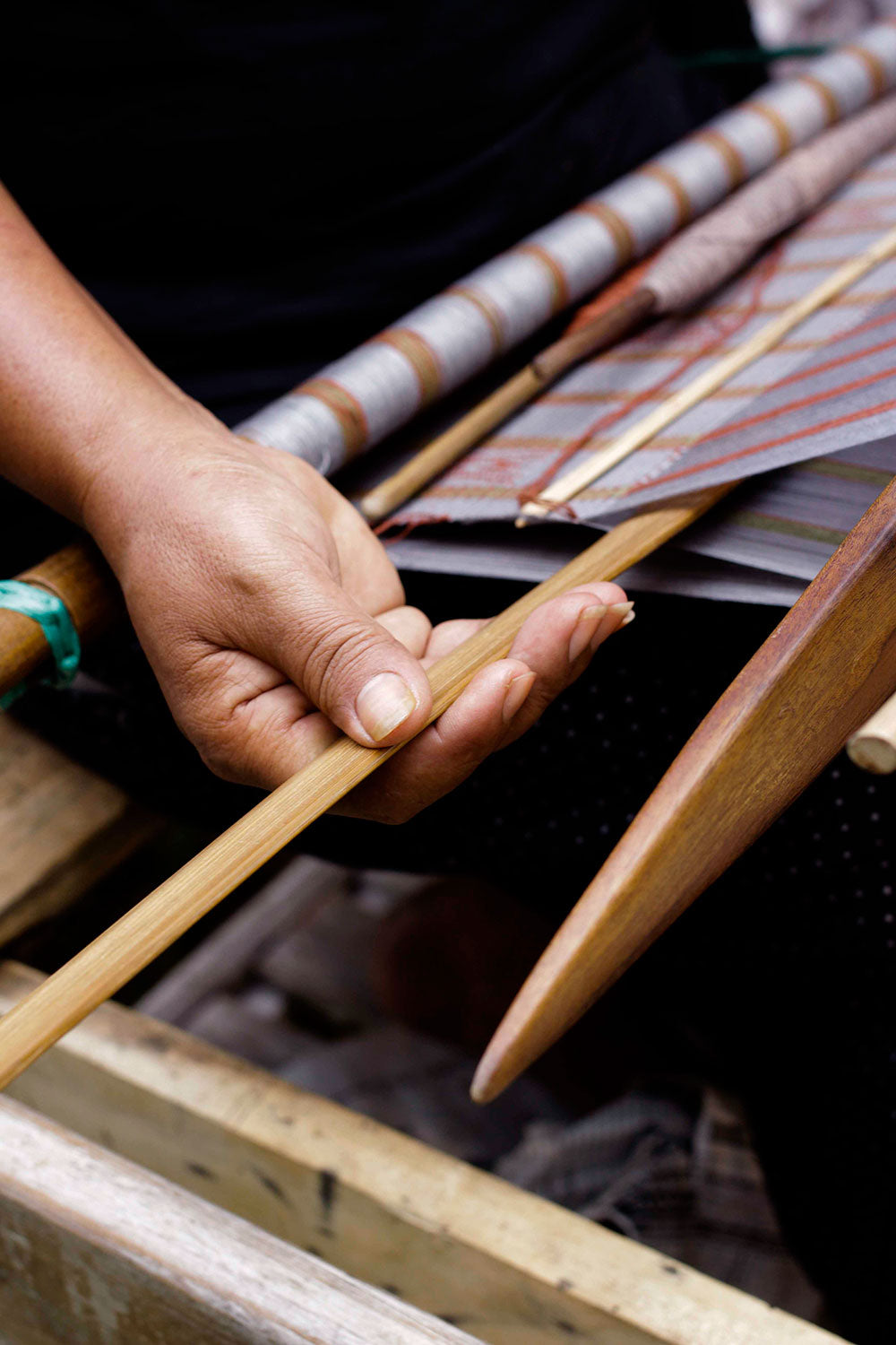 Loin loom or backstrap loom is the oldest and simplest device used to weave cloth and it has been historically used by the tribes in Nagaland.