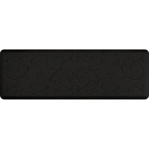 Designer Estates Bella Station 6' X 2' - Black Onyx Salon Mat