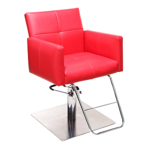 Fara Hair Salon Styling Chair - Red - Factory-Direct Clearance Sale