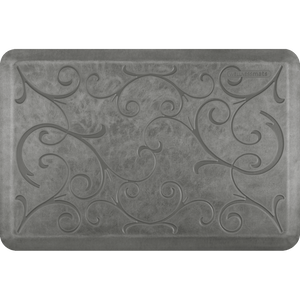 Designer Estates Bella Station 3' X 2' - Silver Leaf Salon Mat