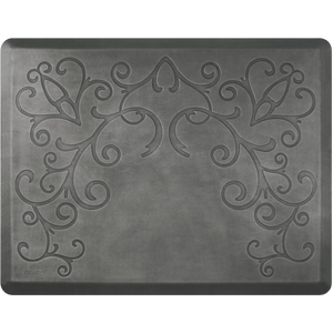 Designer Estates Bella 4' X 5' W/O Cd - Silver Leaf Salon Mat