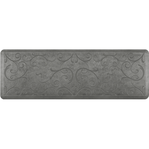 Designer Estates Bella Station 6' X 2' - Silver Leaf Salon Mat