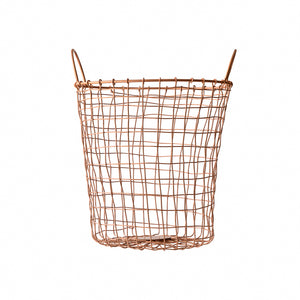 Copper Wire Round Basket