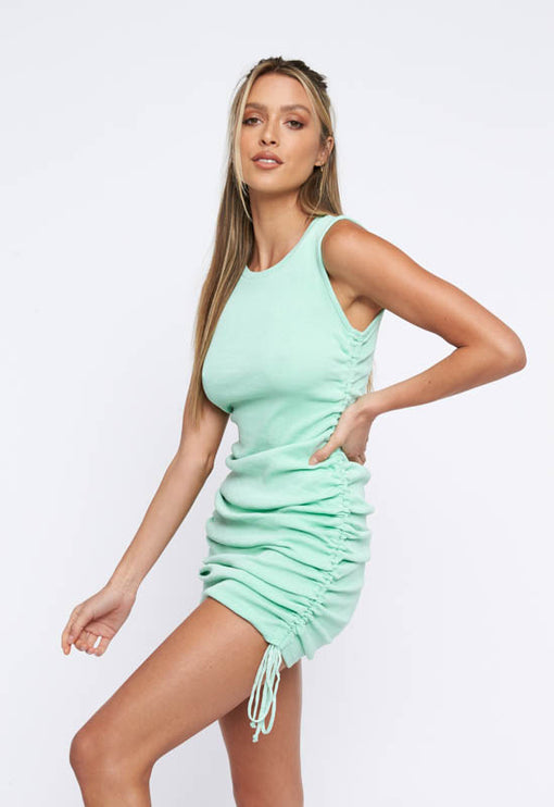 Military Minds Mini Dress - SEAFOAM GREEN
