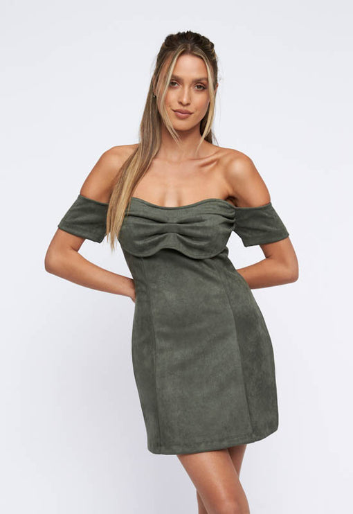 Win Some, Lose Some Mini Dress - OLIVE