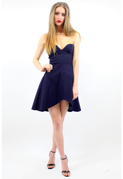 Symphony Bustier Dress - NAVY