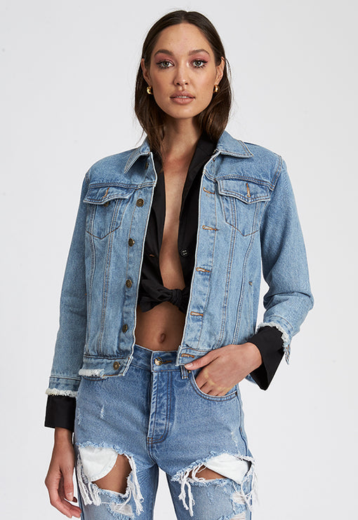 No Scrubs Denim Jacket - BLUE