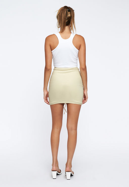 Dangerous Woman Mini Skirt - CREAM