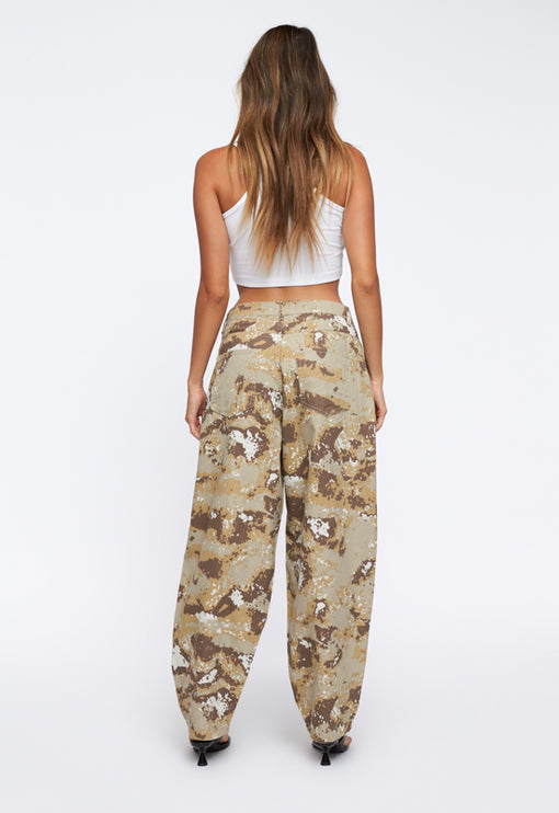 On My Way Denim Jean - NUDE CAMO