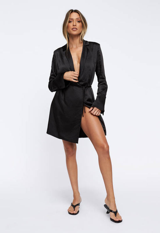 Catching Feelings Mini Dress - BLACK