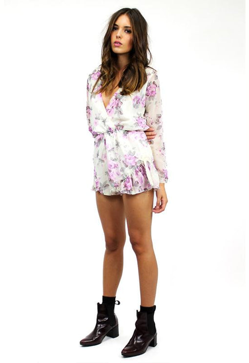 His Girl Playsuit - LILAC PRINT