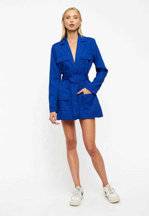 Steinway Mini Dress - COBALT