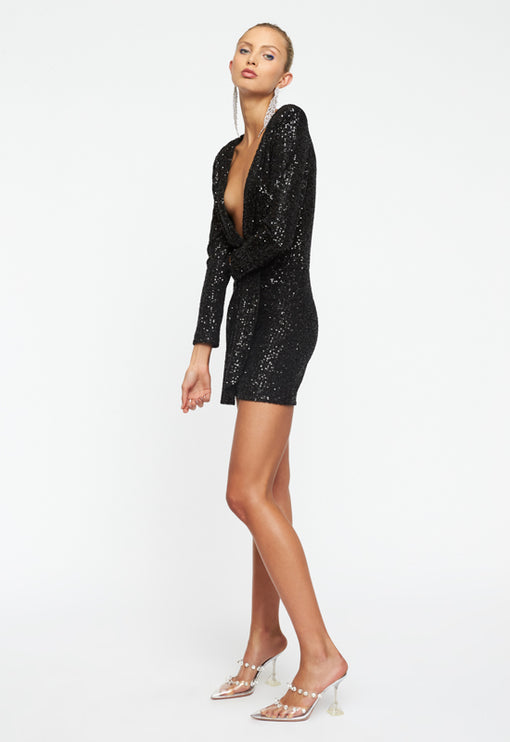 Make Your Move Mini Dress - BLACK