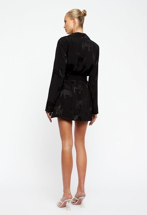 Steinway Mini Dress - BLACK