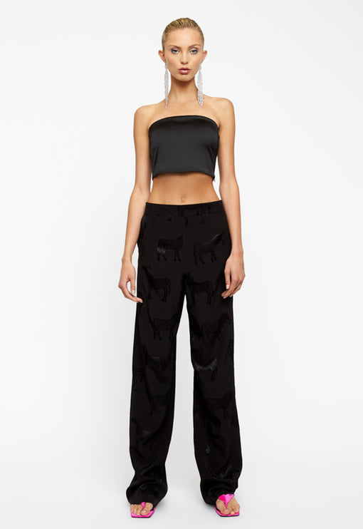 Playa Crop Top - BLACK