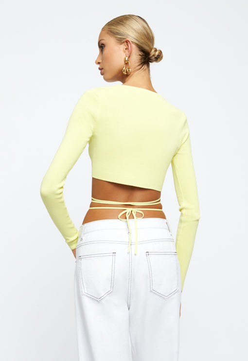 Cougar Wrap Top - LIME